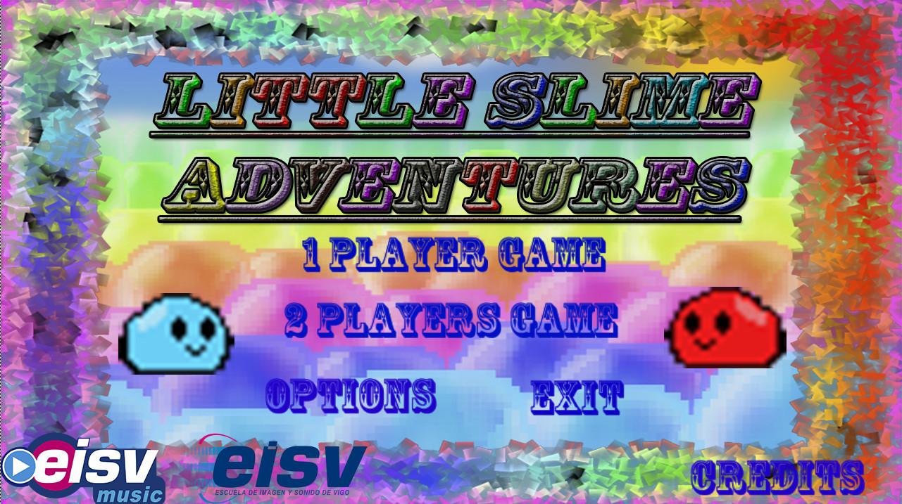 Little Slime Adventures, videojuego multijugador. Ciclo de Animación de eisv trabajos de alumnos de la escuela de imagen y sonido de vigo.